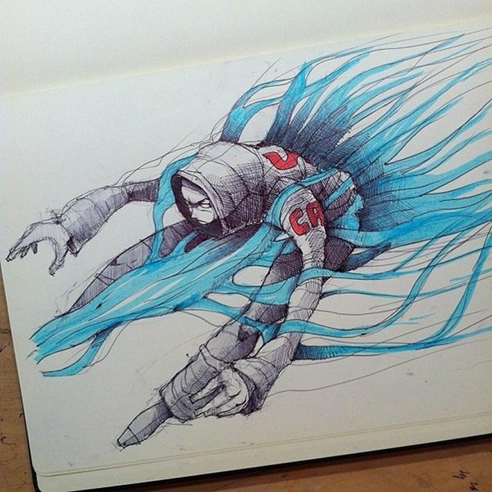 Amazing pencil art sketches 11