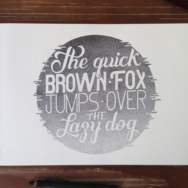 Best Stippling Art Typography