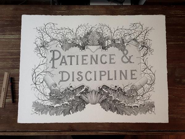 Incredible Stippling Art Typography design