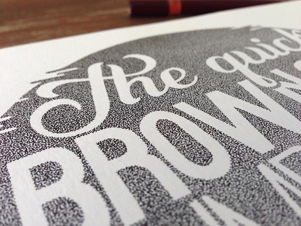 Stunning Stippling Art Typography design