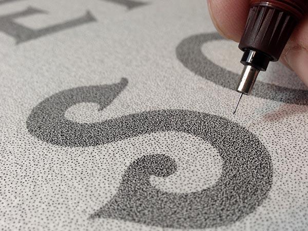 Wonderful Stippling Art Typography