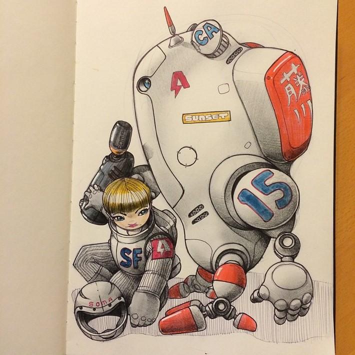 fantastic sketches drawings pencil 2