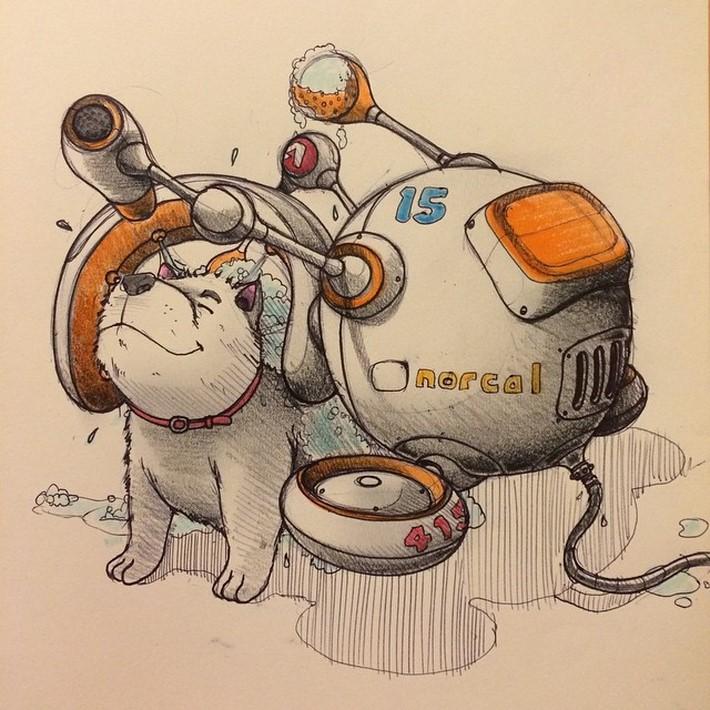 fantastic sketches drawings pencil 7