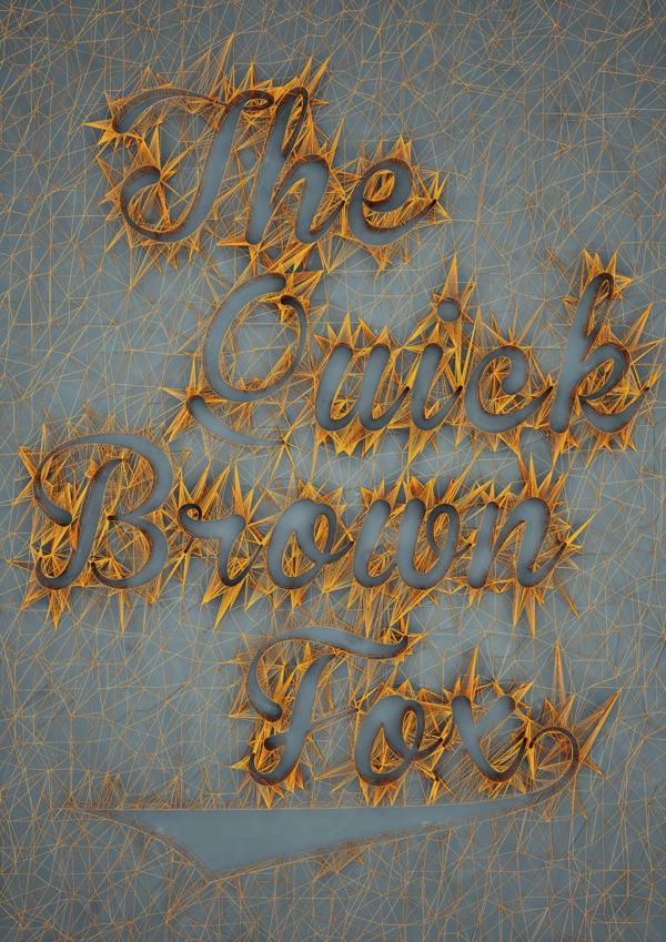 3d typography design by Dan Hoopert 02