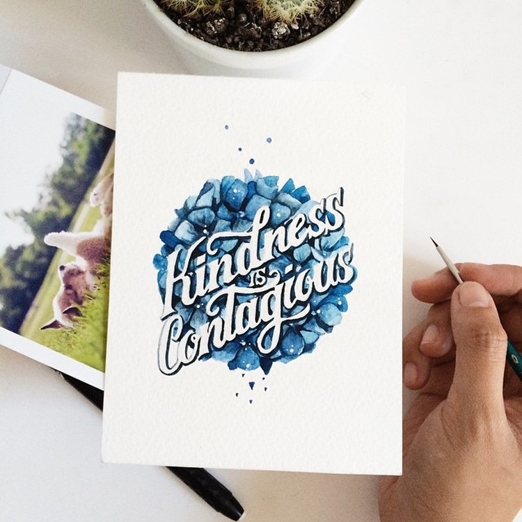 Creative Watercolor Hand Lettering Quotes by june Digan