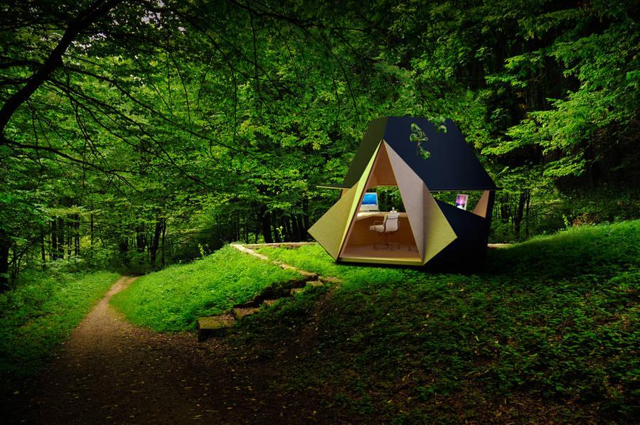 Unique Portable Wooden Home Office