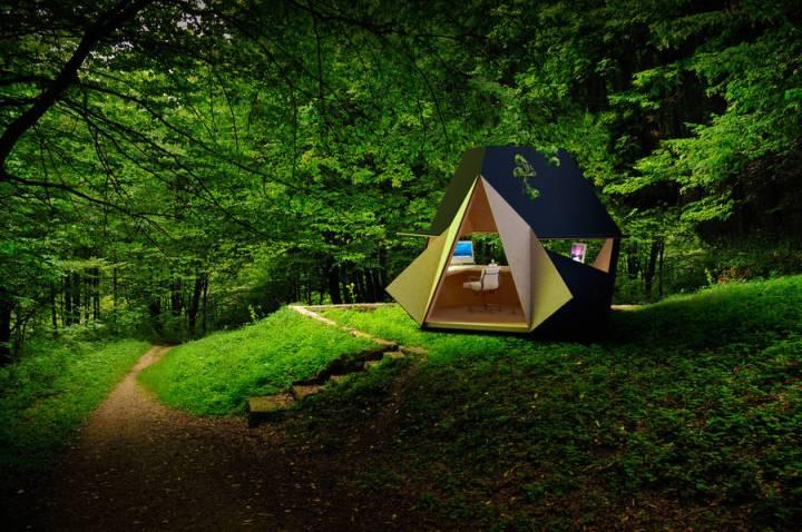 Unique Wooden Portable Office