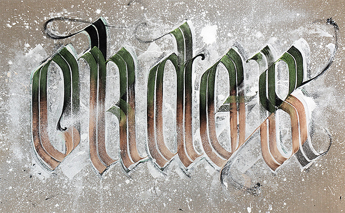 Wonderful Calligraphy Design by neils shoe meulman