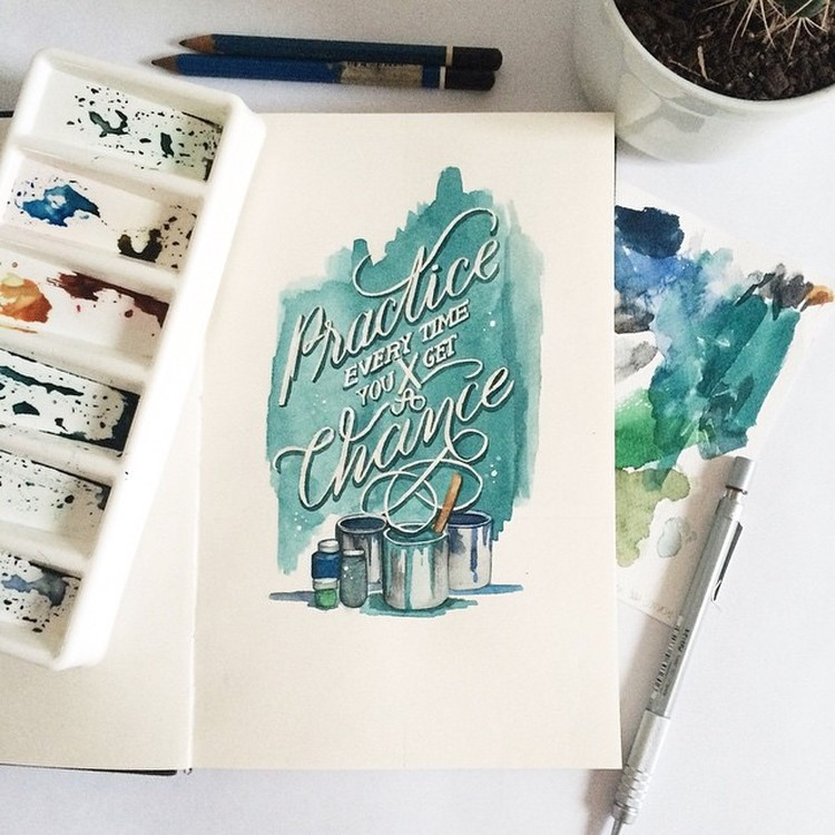Wonderful Watercolor Lettering Quotes by june Digan