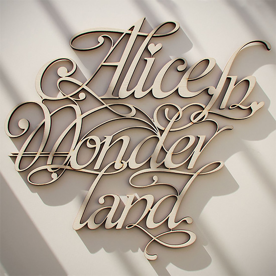 Wood Lettering Design by Future Marquetry