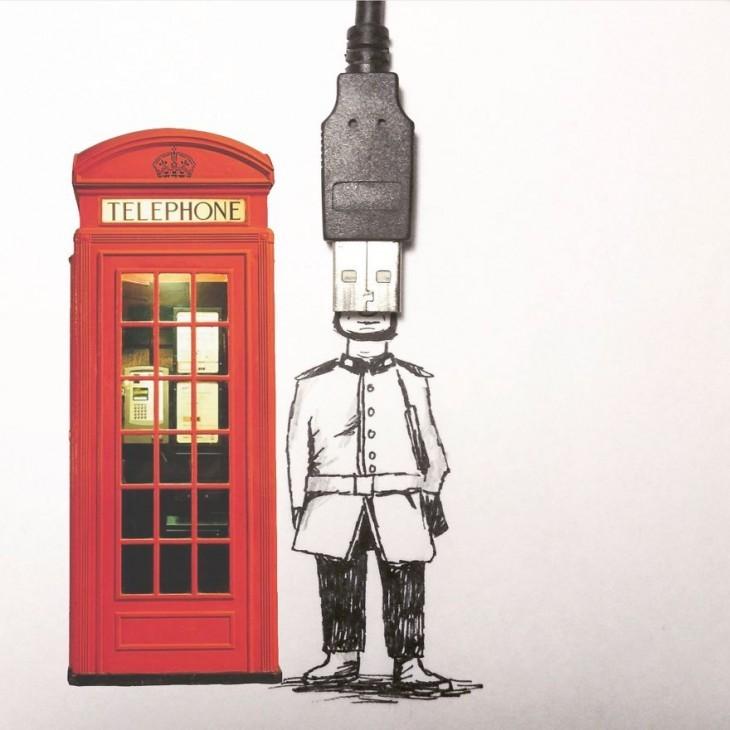 Amazing  Illustrations Using Everyday Objects