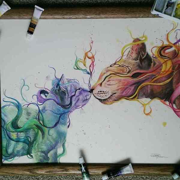 Mind Blowing Watercolor Drawings Dany Lizeth 99inspiration