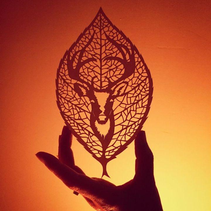 Unique paper cut design by Jo Chorny