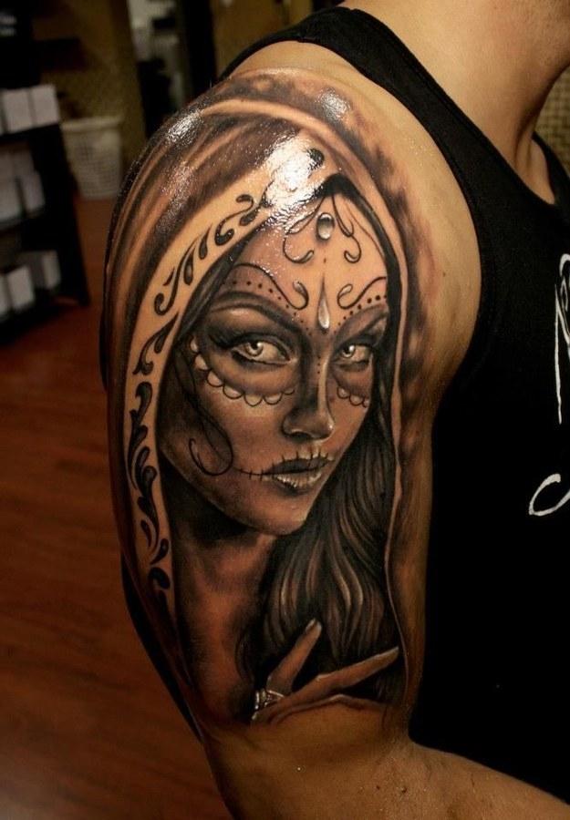 Arm Sugar Skull Tattoo ideas