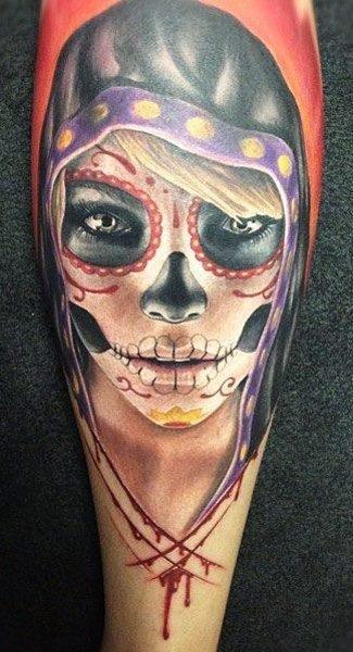 Tattoo Mexican Skull Girl
