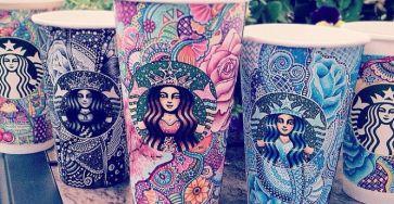 Creative Art Work: Turn Starbucks Cups Into Beauty Art