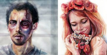 Watercolor Paintings Ideas by Lina