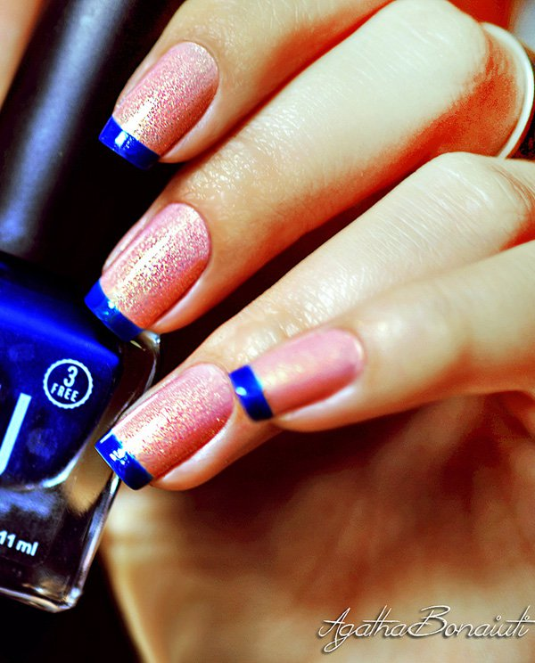 Blue-and-pink-frech-nail
