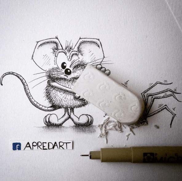 Creative Drawing Art Make from Everyday Object 03