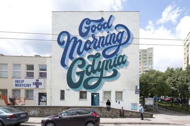Creative Street Art and Graffiti Designs Good-Morning-Gdynia