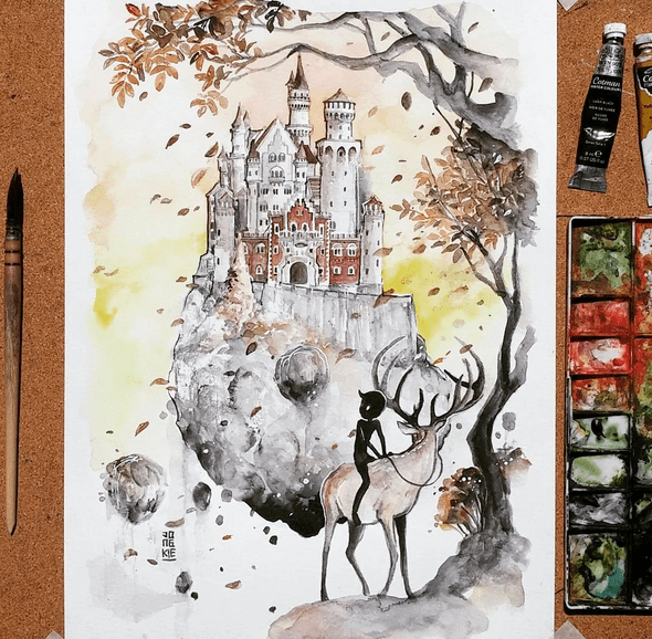 Creative Watercolor Paintings by Luqman Reza Mulyono