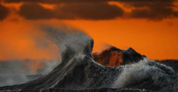 The Freak Liquid Mountains Of Lake Erie by Dave Sandford