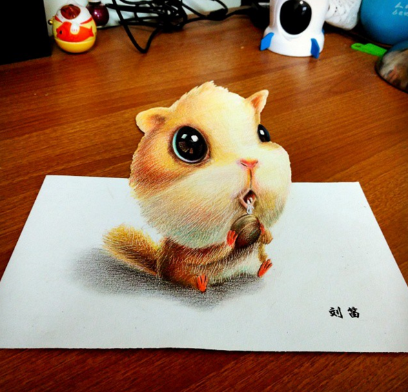 cute and funny drawing