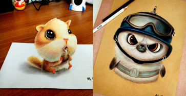 Cute and Funny Drawing Artworks by Chinese Artist oliudio