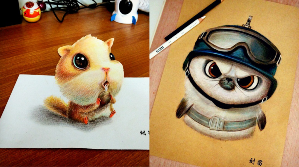 Cute And Funny Drawing Artworks Chinese Artist Oliudio