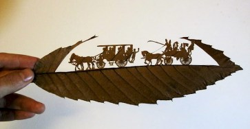 Creative and Beautiful Intricate Carvings Using Fallen Leaves