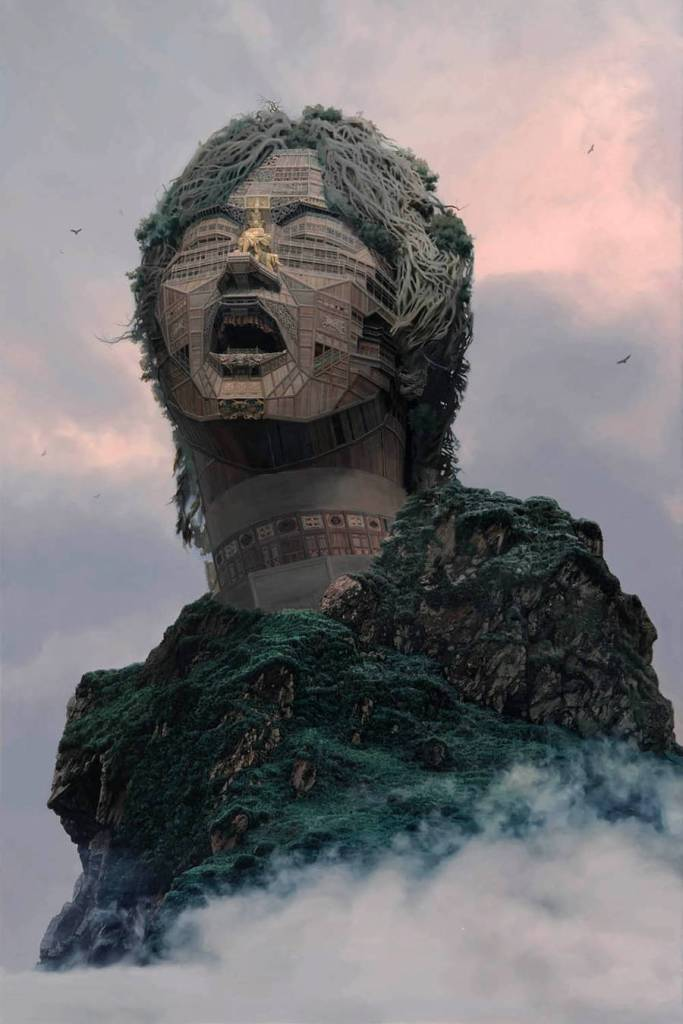 Portraits of Chinese Rockstars Turned into Monumental Temples 03