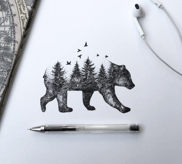 Beautiful Sketches Pen Drawings by Alfred Basha 02