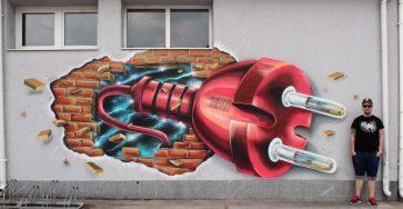 Wonderful Street Art and Graffiti Designs by Fork4