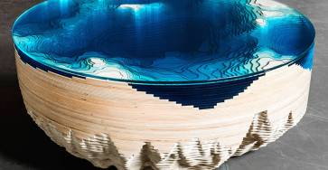 Abyss Horizon: The Unique Ocean Inspired Coffee Table