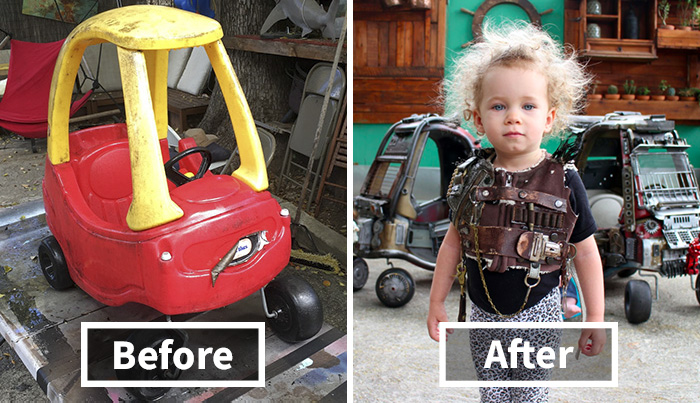 "Dad Turns Kids' Toy Cars Into Badass ""Mad Max"" Vehicles 10"