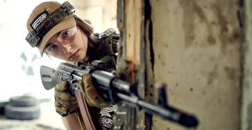 Meet Elena Deligioz, Probably The Most Beautiful Female Cosplay Soldier In The World