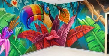 Mind-blowing Graffiti Interiors by Arsek Erase