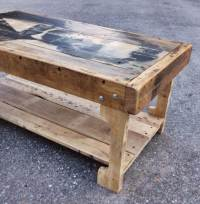 Pallet Coffee Table with Recycled Wood Shelf