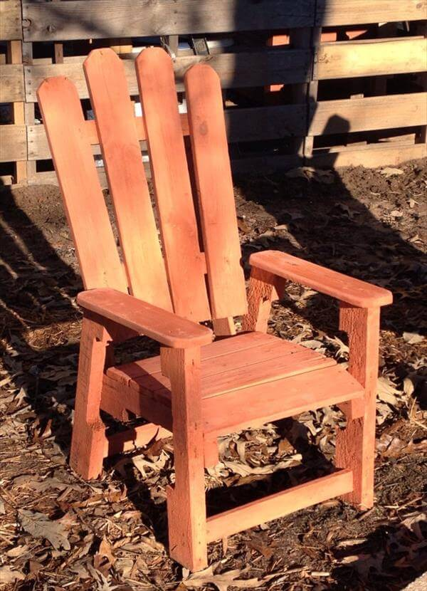 distressed adirondack chairs acrylic ghost chair diy pallet for kids | 99 pallets