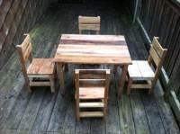 DIY Rustic Pallet Table And Chairs | 99 Pallets