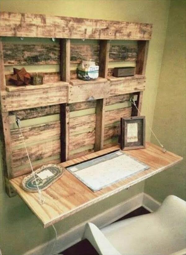 5 DIY Easy Wooden Pallet Desk Ideas