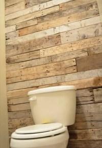 DIY Tutorial: Pallet Bathroom Wall