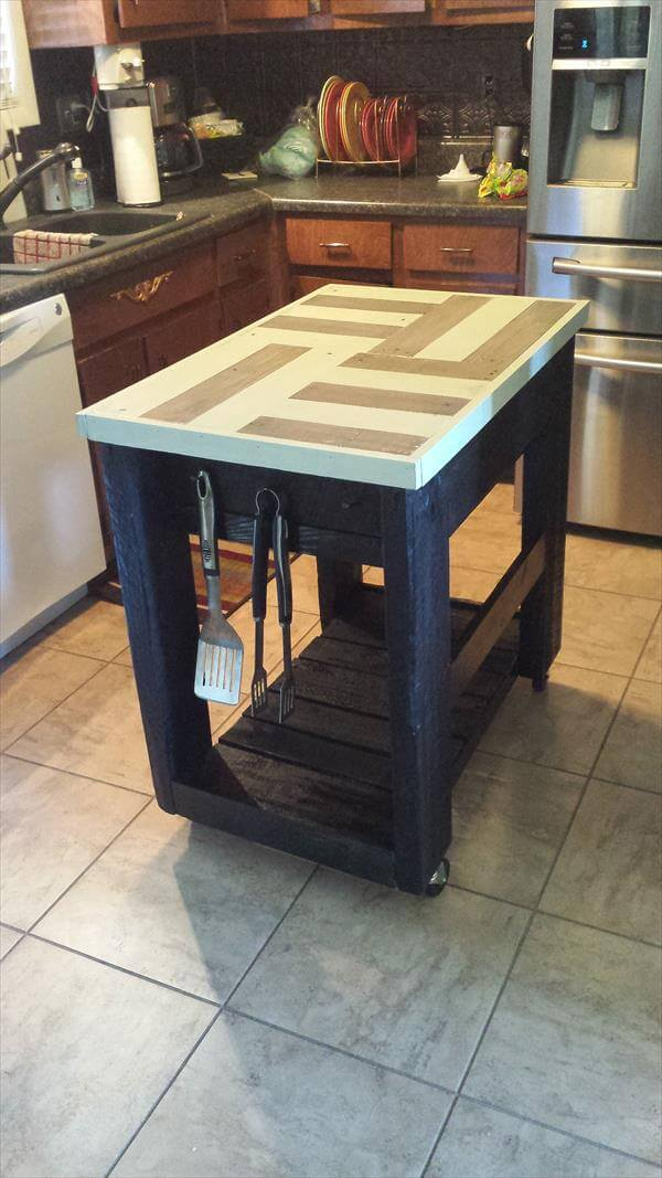 reclaimed pallet kitchen island table diy pallet and barn wood kitchen island table