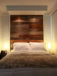 DIY Pallet Wall Headboard Design