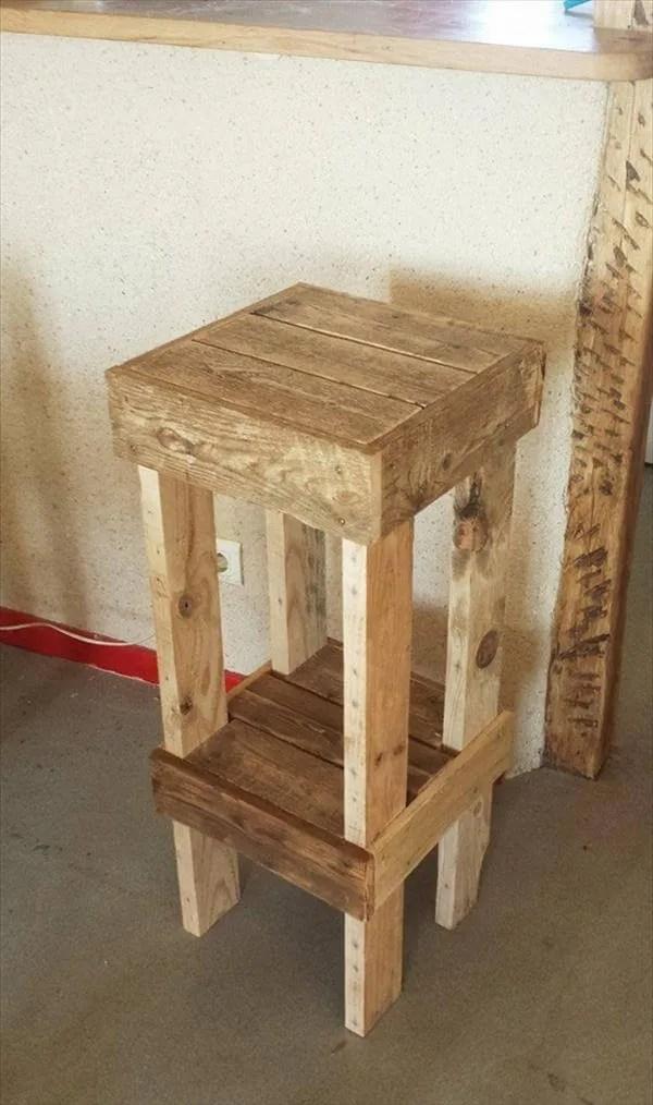DIY Reclaimed Pallet Stools