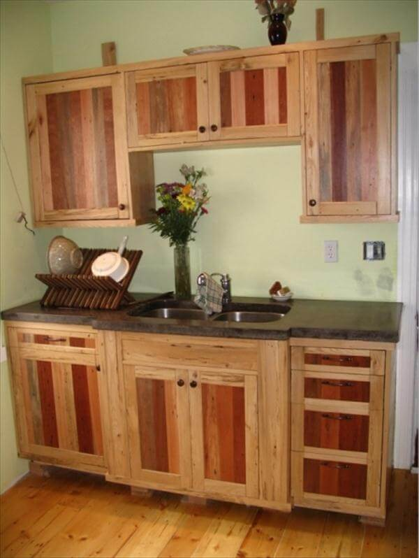 Pallets Pallet Kitchen Cabinets Hutch