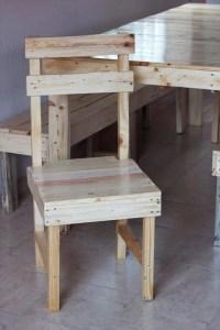 DIY Pallet Farmhouse Dining Furniture Set
