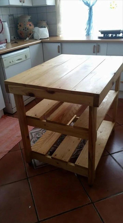 diy hand built pallet kitchen island