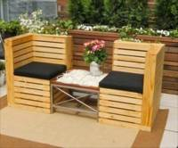 DIY Pallet Patio Bench Ideas