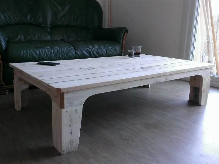 DIY Pallet White Coffee Table